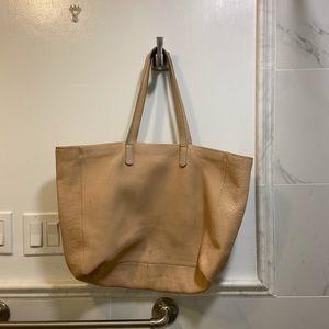 Baggu blush pink leather bag